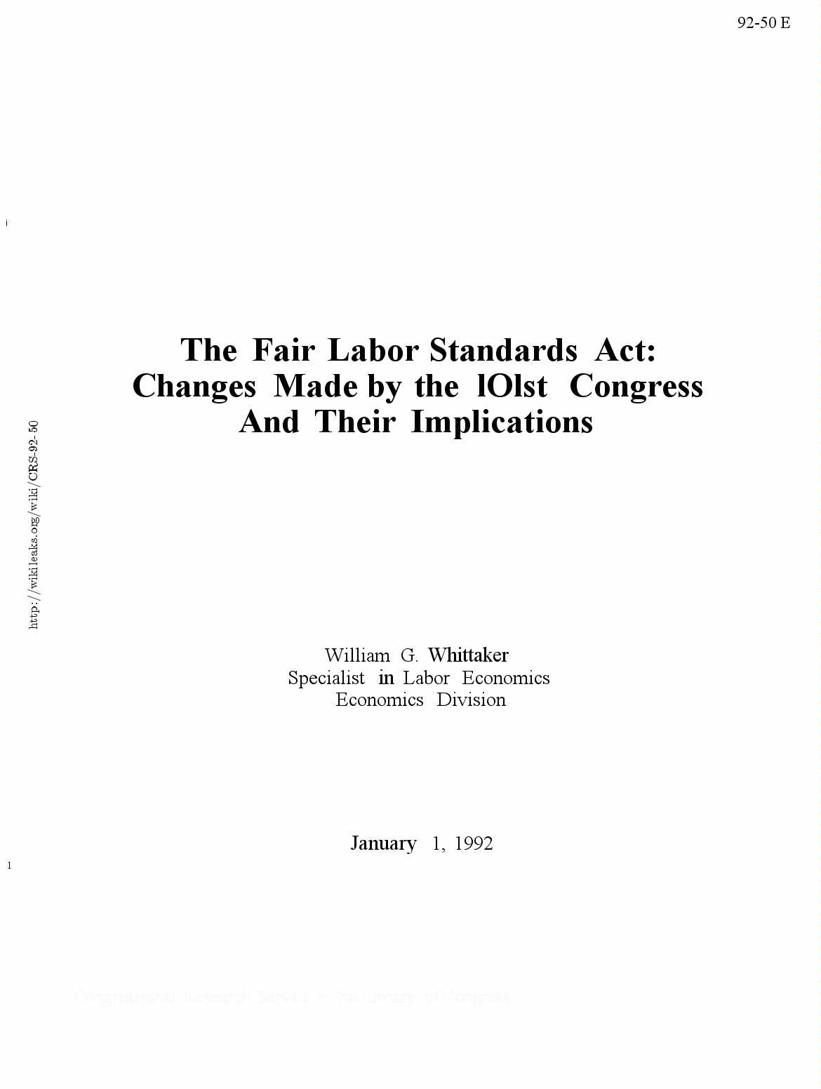 Fair labor standards act research paper